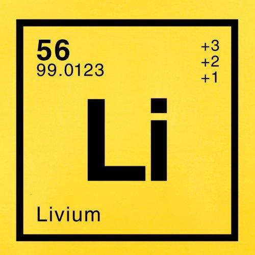 Liv Periodensystem - Herren T-Shirt - 13 Farben Gelb