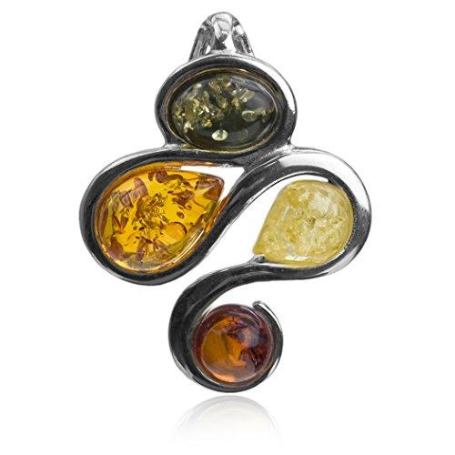 noda-multicolore-ambra-argento-sterlina-ciondolo