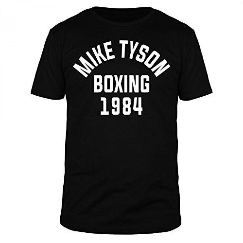 FABTEE Mike Tyson Boxing 1984 - Herren T-Shirt - verschiedene Farben - Größen S-4XL, Größe:2XL, Farbe:Schwarz (1984 Schwarzen T-shirt)