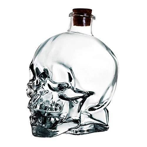 Igemy Neuheit Flasche Große Glas Schädel Große Apotheker Glas Flasche Dekanter Skeleton Cup (A, 180ML) (Neuheit Gläser)