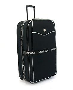 "Extra Large 32"" Lightweight Luggage Wheeled Trolley Suitcase Case XL Travel Bag (2036 - Black Diamond)"