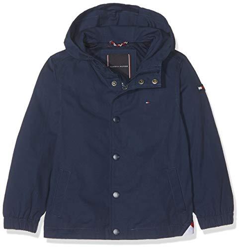 Tommy Hilfiger Hooded Coach Jacket Abrigo, Azul Black Iris 002, 122 Talla del Fabricante:...