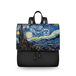 Alviero Rodriguez Donna Zainetto LuxNotte Stellata Arte Quadro Notte Stelle Cielo Van Gogh in Ecopelle