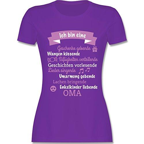 Geburtstag - Ich Bin eine Oma! - L - Lila - L191 - Damen Tshirt und Frauen T-Shirt -