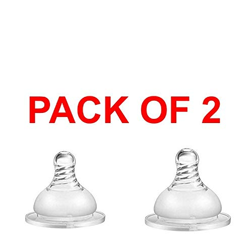 HONEY BOO Feeding Bottle Silicone Nipple for Baby Steel Feeding Bottle 290 Ml and 180 Ml in Transparent in (Pack of 2)