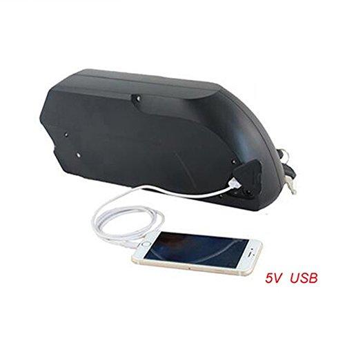 HalloMotor Free Duty Tiger Shark Electric Bike ebike 36V 12.5AH OEM Cell Down Tube Li-ion Battery 18650 Cell+2A Charger+USB Mobile Charging Port Oem Mobile