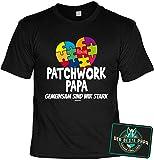Papa Deko-Sprüche-Schild - Geschenk-Set Papa - Vater T-Shirt : Patchwork Papa Gemeinsam sind wir stark & Der Beste Papa - Deko Sprüche-Schild Eltern/Papa Gr: 4XL
