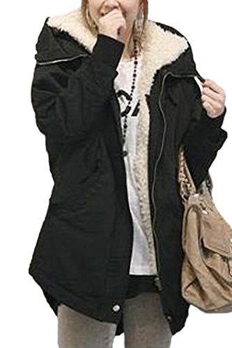 Les Femmes De L'hiver Polaire À Chaud Épais Sont Outercoat Parkas Ferme Poche Xxl Black