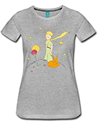 Spreadshirt The Little Prince With Fox and Rose Women's Premium T-Shirt