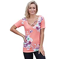 Baby Pink Mixed Neck Shirts For Women