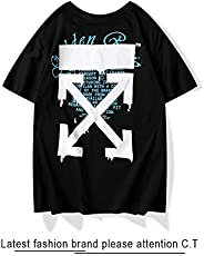 Off White Classical T-shirt Fashion Tee Unisex Short Sleeve For Men and Women