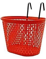 Cesta roja portable de la bicicleta para los animales domésticos y las mercancías