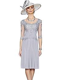 c678a699744e Dressvip donna Light champagne pizzo abito formale vestito con giacca · EUR  152,00 · Dressvip girocollo mezza manica grigio pizzo chiffon Mother of the  ...