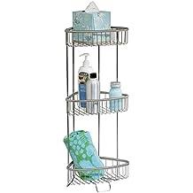 mdesign eckregal bad und dusche freistehend rostfreies regal fr shampoo duschgel co - Teleskop Eckregal Dusche Edelstahl