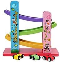 DWLXSH Tire hacia atrás la inercia Pista Divertida Delta, Playsets de Coches Juguetes for 1 2 3 años de Edad for niños Muchachas de los Muchachos, Regalos Vía de Tren Juguetes, Juegos de Rompecabezas
