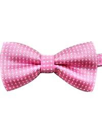 Corbata de lazo formal ajustable del algodón para los niños con el color del caramelo del punto para el partido