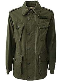 ASPESI Giacca Uomo Verde in Twill Giapponese MOD CG66 F012 Vancouver 100%  Cotone 260c213c6e8