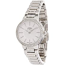 Rotary Les Originales LB90081/02 - Reloj para mujeres, correa de acero inoxidable color