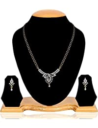 Cardinal American Diamond Latest Design Mangalsutra Latest Design Pendant Necklace Set Latest Design for Women