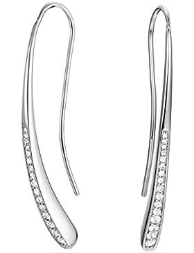 ESPRIT Damen-Ohrhänger JW52886 Messing rhodiniert Zirkonia transparent-ESER02760A000