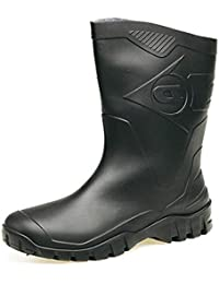 3d635e75bcea Womens Dunlop Short Half Length Ankle Wellington Wellies Boots WIDE FIT  CALF UK 4 -9