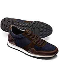 Navy and Brown Sneaker by Charles Tyrwhitt