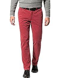 GARDEUR Herren Hose Baumwolle Modisch Unifarben, Größe: 46, Farbe: Rot