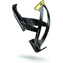 Elite Paron Race - Portabidón para bicicleta, color negro mate/amarillo, talla única