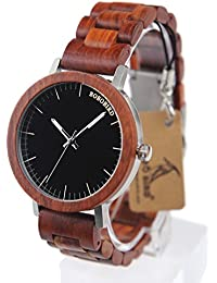 GVS China: BOBO BIRD M16 Red Sandalwood Analog Watch With Wood Vintage Watch And Strap For Men Can Customized...