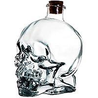Igemy Neuheit Flasche Große Glas Schädel Große Apotheker Glas Flasche Dekanter Skeleton Cup (A, 180ML) preisvergleich bei billige-tabletten.eu