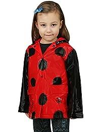 AccessoWear Little Girl's Red Ladybug Rain Coat