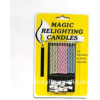 Gifting Square Happy Birthday Magic Relighting Candles Full Cake Decoration Pack Of 40