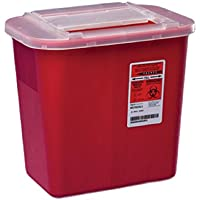 Kendall Red 2 Gallon Sharps Container - Model 31142222 by Kendall/Covidien - Red Sharps Container