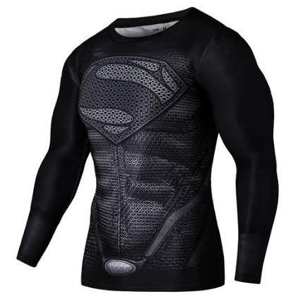 Black-Superman-Superhero-Compression-Top-Medium