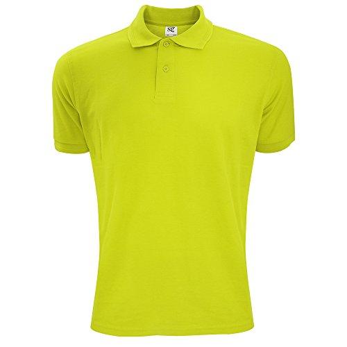 SG Polycotton Herren Polo-Shirt, Kurzarm Limonengrün