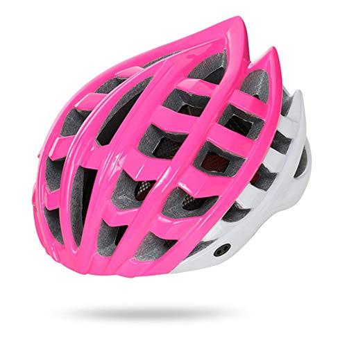 HS-GUANLY Kinderhelm Radfahren Sicherheit Hut Stoßfest Sicherheitsausrüstung Abnehmbarer Fahrradhelm Einteiliger Helm PC Rennrad Mountainbike CE-Zertifizierung,Pink