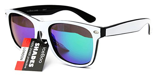 new-sunglasses-two-tone-reflective-lenses-vintage-retro-classic-mens-womens-uv400-white-black-green-