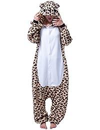 MissFox Unisex-Erwachsene Schlafanzug-Einteiler Jumpsuit multi-Tier design
