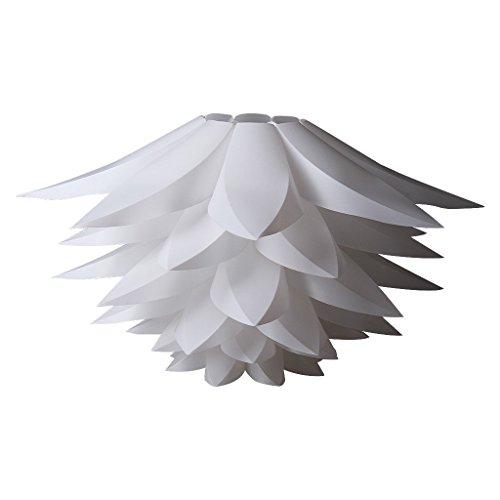 DIY Puzzle Lotus Lampenschirm Weiß, MIRI Flower Lampenschirm für Deckenlampen Pendelleuchte Hängeleuchte Kronleuchter Stehleuchten, Durchmesser 53cm (21 Zoll)