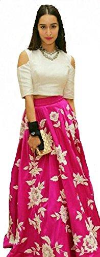 Dresses (Ladies4Zone Women`s Georgette Embroidered western wear lengha choli)