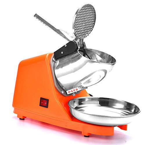 HaroldDol Eiscrusher Ice Crusher Edelstahl elektrische Shaver Schnee-Kegel-Maschine 2200 r/min für Heim- und kommerziellen Einsatz 220V