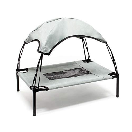 Brandina per cani animali branda lettino con tettuccio parasole cuccia da spiaggia L Grigio