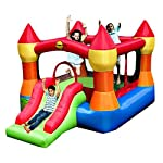 Happy Hop Rainbow Jumping Castle with Slide - 9017N
