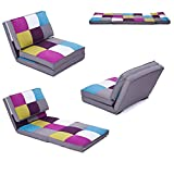 MACOShopde by MACO Möbel Klappmatratze mechanisch verstellbar 1.Sessel 2.Liege/Sofa 3.Multifunktionsmatratze/Gästebett für Kinder und Reisen