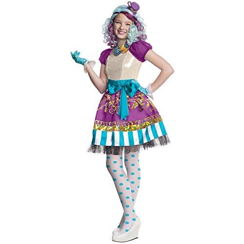 Rubies Ever After High Madeline Hatter Kinder Mädchen Kostüm Fasching Karneval: Größe: (Kostüme Kind Hatter Madeline)