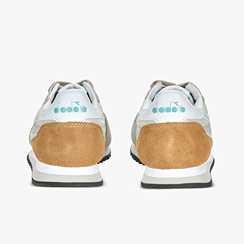 Diadora Malone W, Sneaker a Collo Basso Donna C6469 - GRIGIO ALLUMINIO-AZZURRO ACQUA CHIARO
