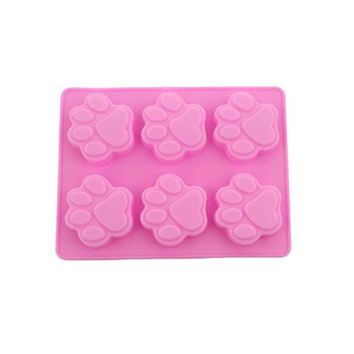 Yesiidor Cat Dog Paw Shape Mold Silicone Mold Ice Cube Cake Soap Baking Mould Kitchen Accessoriess