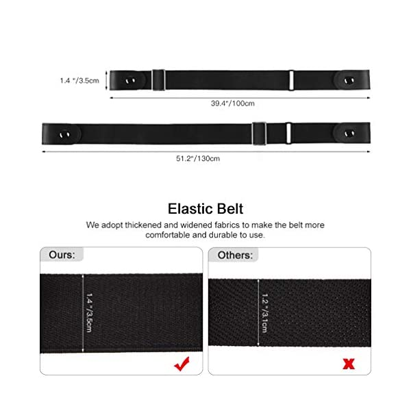 VBIGER Cintura Uomo Donna Cintura Senza Fibbia per Uomo Donna Cintura Uomo Elastica Jeans Larghezza 3 spesavip