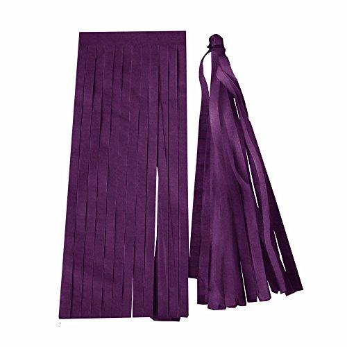 5x/Set Seidenpapier 35cm Quasten zum Aufhängen Girlande DIY Party Garlan für alle Events Anlässe 12cm*35cm deep purple