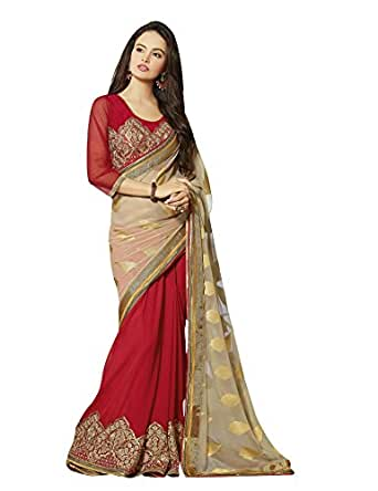 Aarti Saree Chiffon Saree (Dhks122Kk_Multi-Colour)